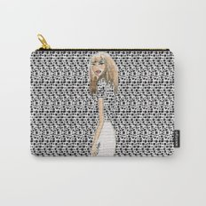 Red and Black Fashion Illustration Carry-All Pouch