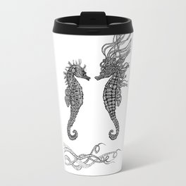 Seahorses love Travel Mug