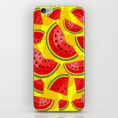 Watermelon and Pineapple Juicy Pattern iPhone & iPod Skin