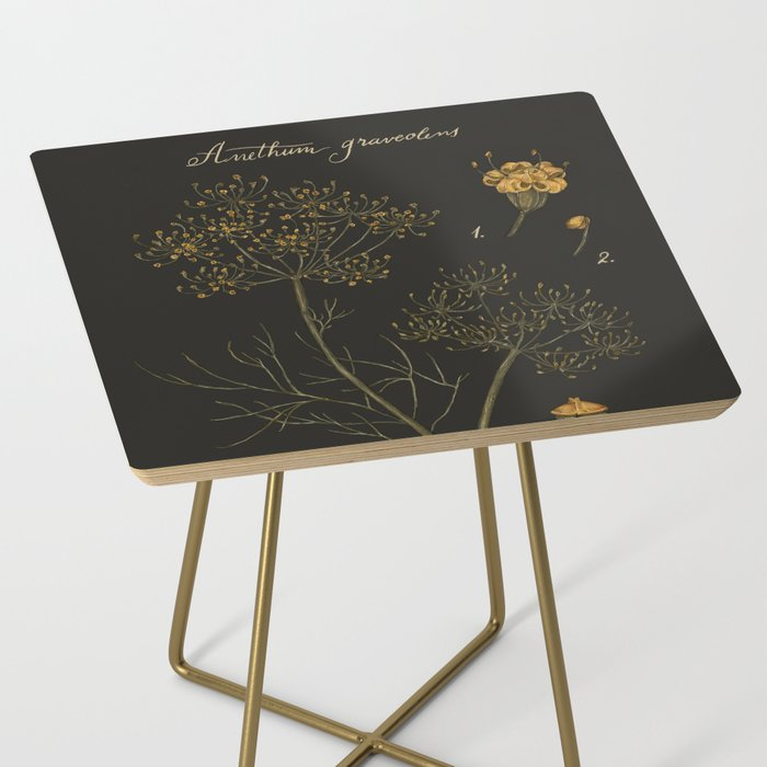 Dill (Dark Background) Side Table