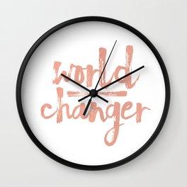 World Changer Peach Wall Clock