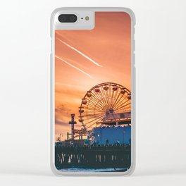 santa monica Clear iPhone Case