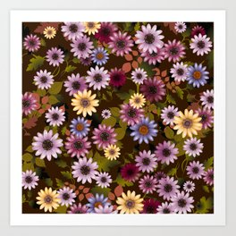 Multicolored natural flowers 3 Art Print