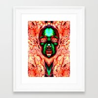 meme Framed Art Prints featuring MEME by Laertis Art