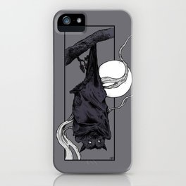 Purple Bat iPhone Case