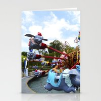 dumbo Stationery Cards featuring Dumbo Ride by Around The Park