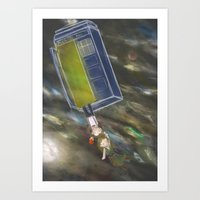Across all of space and time! Art Print