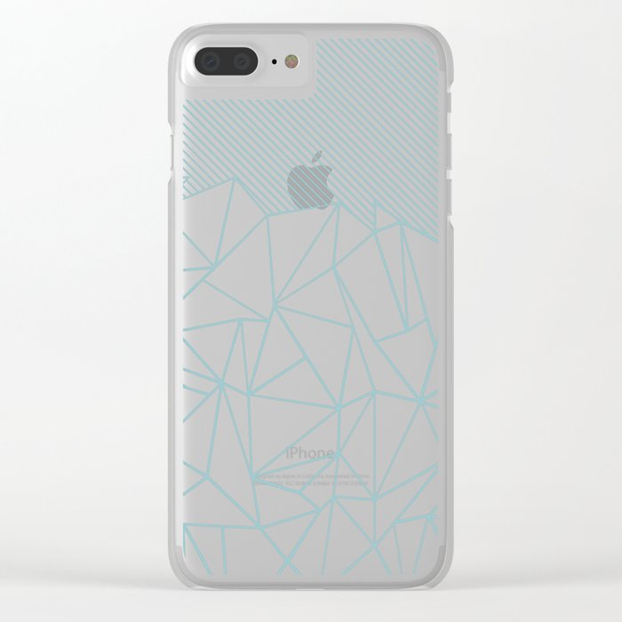 Ab Lines 45 Sea Clear iPhone Case