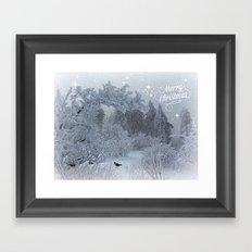 Merry Christmes Framed Art Print