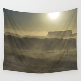 House in the blizzard Wall Tapestry