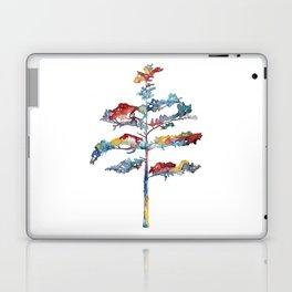 Pine tree #1 - multicoloured ink painting Laptop & iPad Skin
