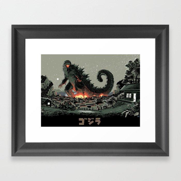 Godzilla - Gray Edition Gerahmter Kunstdruck