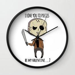 Jason Voorhees Horror Valentines Wall Clock