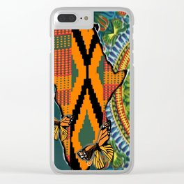 African Dashiki Butterfly Clear iPhone Case