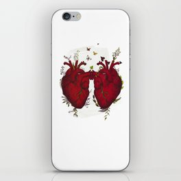 two hearts beating as one iPhone Skin