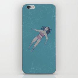 Girl Floating in the Ocean iPhone Skin