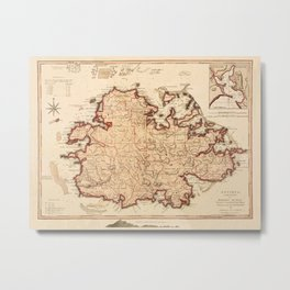 Map Of Antigua 1794 Metal Print