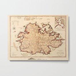 Map Of Antigua 1794 Metal Print