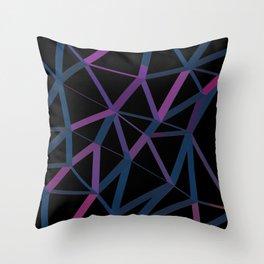 3D Futuristic GEO Lines Throw Pillow