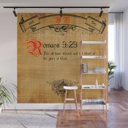Bible Verse Romans 3:23 Wall Mural
