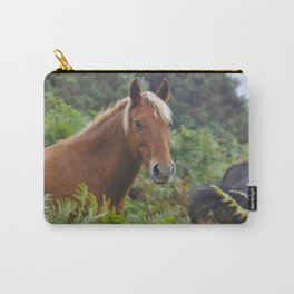 Wild Palomino Flaxen-maned New Forest Horse Carry-All Pouch