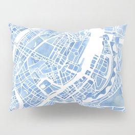 Copenhagen Denmark watercolor city map Pillow Sham
