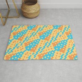 Chocktaw Geometric Square Cutout Pattern - New Mexico Rug