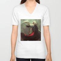 thranduil V-neck T-shirts featuring Thranduil by nlmda