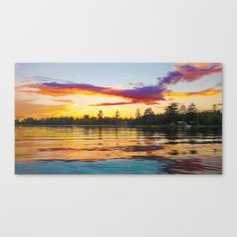Up North Sunset Canvas Print