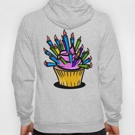 Birthday cupcake pattern Hoody