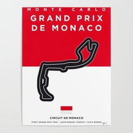 My F1 MONACO Race Track Minimal Poster Poster