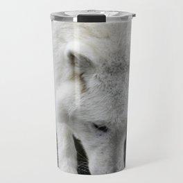 Thirsty Wolf Quenching His Thirst Travel Mug