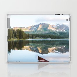 Sunrise Canoe at Lake Irwin Laptop & iPad Skin