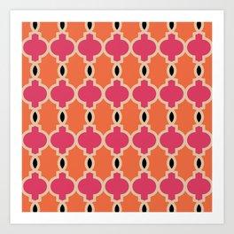 Hollywood Regency Trellis Pattern 622 Art Print