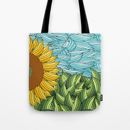 SUNNY DAY (abstract flowers) Tote Bag