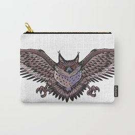 Owl with wings spread Carry-All Pouch