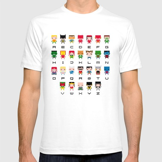 Superhero Alphabet T-shirt