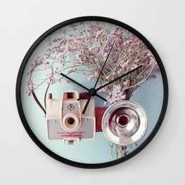 Scout camera & lavender Wall Clock