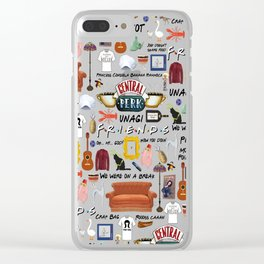 Friends collage Clear iPhone Case