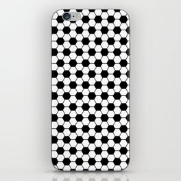 Ball pattern - Football Soccer black and white pattern iPhone Skin
