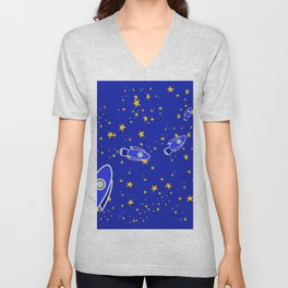 Rocketship to Mars Unisex V-Neck