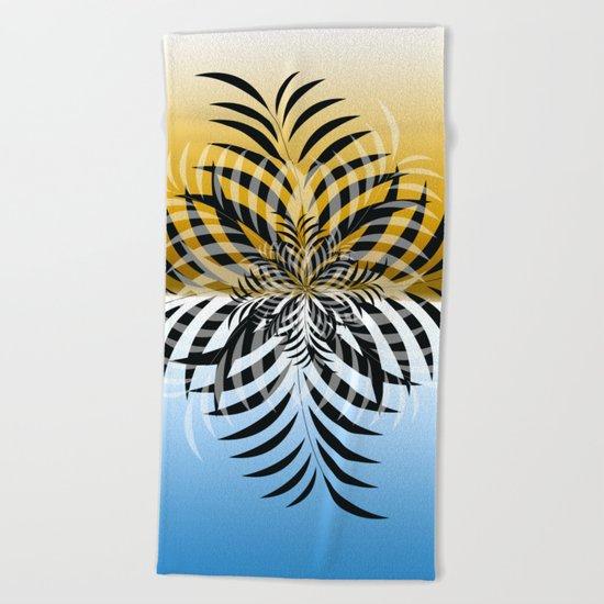 color leaf 1 Beach Towel