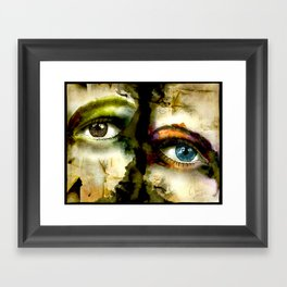 2Eyes2Faces by carographic Framed Art Print
