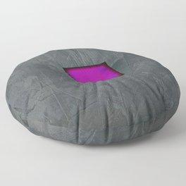 Slate Gray Lavender Fuschia Modern Art Floor Pillow