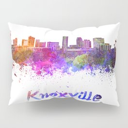 Knoxville skyline in watercolor Pillow Sham