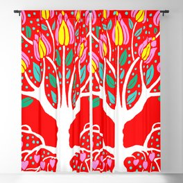 Love Grows Forever - Tomato Red Blackout Curtain