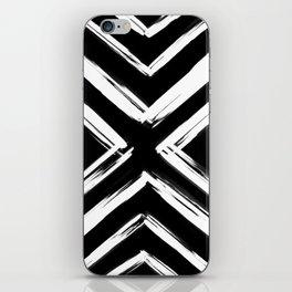 Minimalistic Black and White Paint Brush Triangle Diamond Pattern iPhone Skin