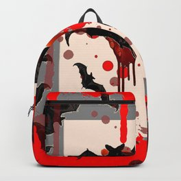 FLYING VAMPIRE BLACK BATS & HALLOWEEN BLOODY ART Backpack