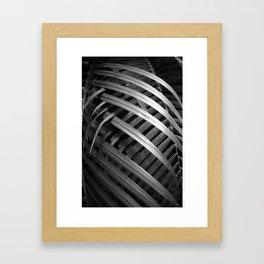 Night Palm Framed Art Print