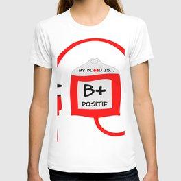 Blood B positif T-shirt